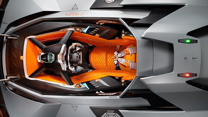 Like the cockpit of a fighter jet! Click on the image to step inside the #Lamborghini Egoista! #droolworthy #carporn