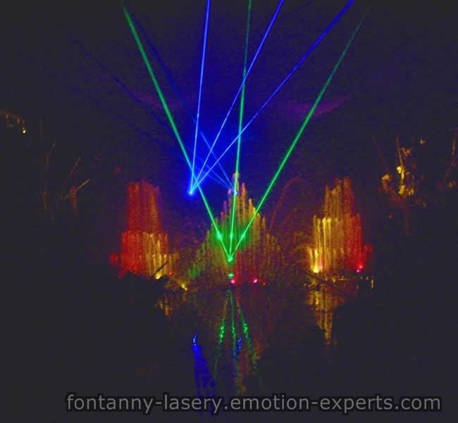 pokaz laserowy dodający scenerii koncertom