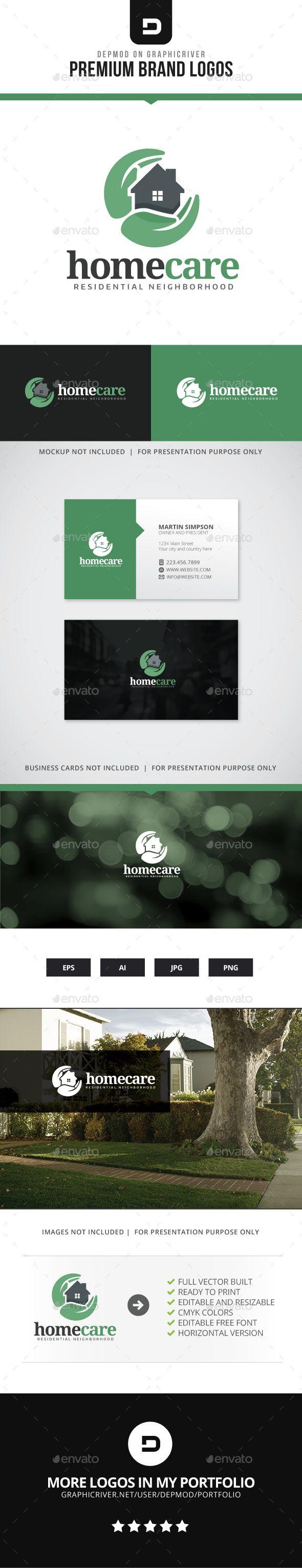 Home Care Logo - Symbols Logo Templates Download here : http://graphicriver.net/item/home-care-logo/15765741?s_rank=152&ref=Al-fatih