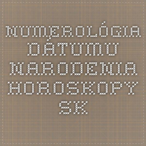 *-*Numerológia dátumu narodenia - Horoskopy.sk