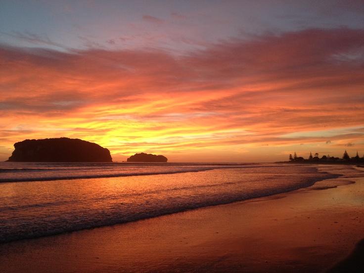 Sunrise in Whangamata!! I love my home!!