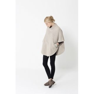 """High Neck Poncho 
