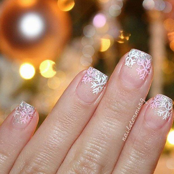 Accurate nails, Beautiful nails 2016, Everyday nails, Gentle winter nails, Ideas…