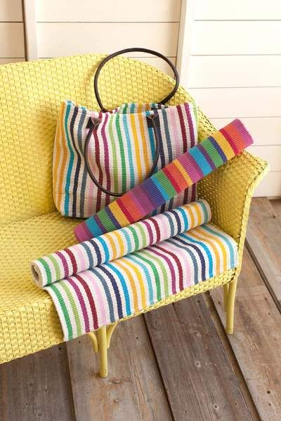 would love this for a toy room - #DashAndAlbert Laguna Stripe Woven Cotton Rug