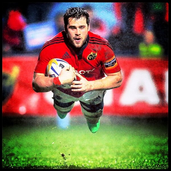 CJ Stander scores a try for Munster Rugby v Edinburgh. #rugby