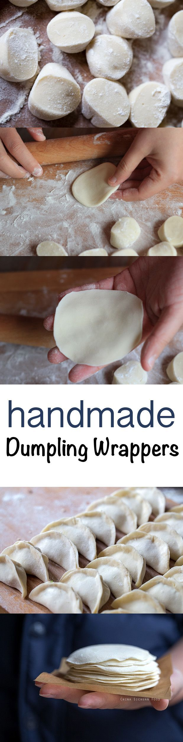 Dumpling Wrappers #homemade | http://ChinaSichuanFood.com
