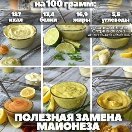 Вкусная и полезная замена майонеза Есть очень много рецептов разных соусов вкусных и более полезных чем майонез, но сегодня рассмотрим один наиболее известный. Заменяем майонез на соус:  3 ст ложки оливкового масла 1 ст ложка лимонного сока или уксуса (бальзамический, винный, яблочный) 1 ч ложка горчицы 7 ст ложек йогурта или сметаны 10% соль и перец - по вкусу. Приготовление: 1. Смешиваем до однородной массы масло, лимонный сок , горчицу, соль, перец. 2. Добавляем йогурт и…