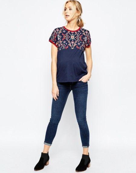 Camiseta Asos Maternity Mosaico