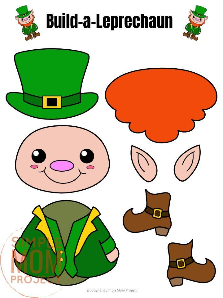 Free Printable Build A Leprechaun St Patrick S Day Craft St Patricks Day Crafts F St Patrick S Day Crafts St Patricks Day Crafts For Kids St Patricks Crafts