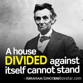 A house divided - lincoln