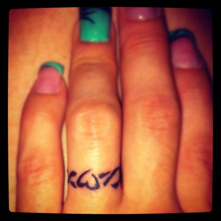 Ring Tattoo Ideas Pinterest: My Ring Tatto ...in Love