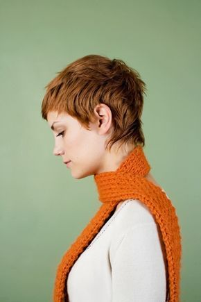 Whispy sides & back make it feminine, while the short razored layers keep it funky. pixie cut