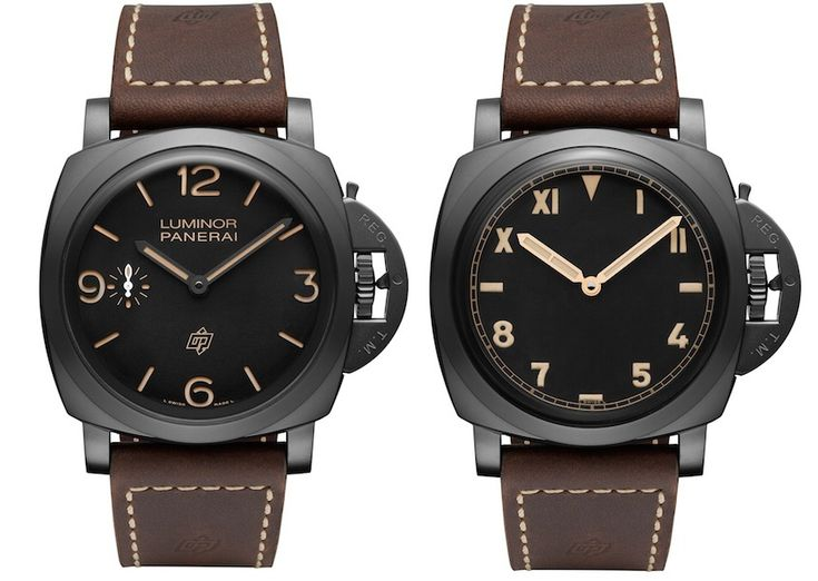 """Panerai Luminor 1950 3 Days Titanio DLC Watch - by James Stacey - """"Panerai has announced a stable of new models this week at Watches & Wonders in Hong Kong. Among a range of new Radiomirs, we find two very cool limited edition dial variations for the Panerai Luminor 1950 3 Days Titanio DLC. Panerai's vintage-inspired 1950's line offers a time-proven aesthetic that reflects the early days of the Luminor case..."""""""