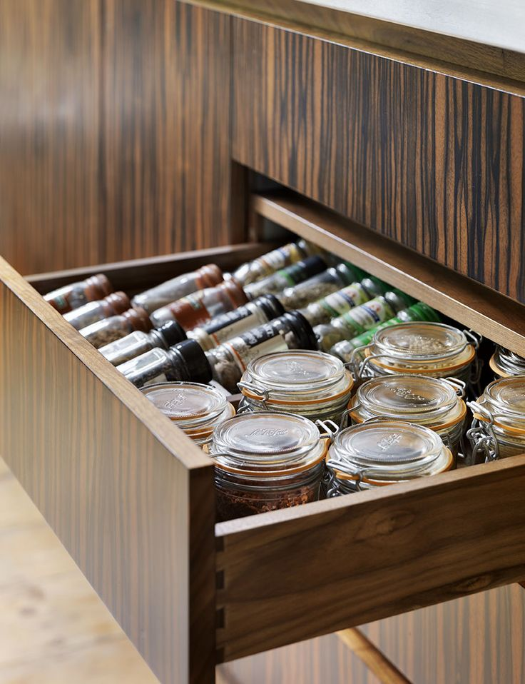 Bespoke spice drawer from Roundhouse