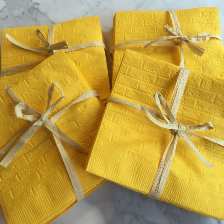 Completed these yellow brick road napkins for an upcoming Wizard of Oz themed party!