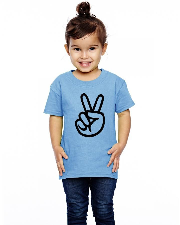 peace sign hand Toddler T-shirt