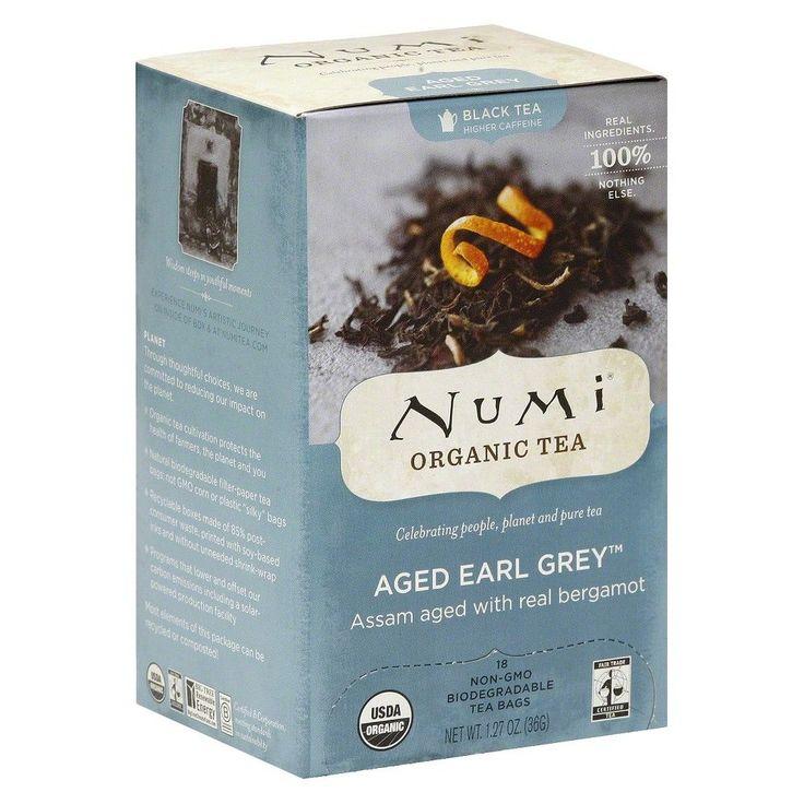 Numi Organic Aged Earl Grey Tea 18 ct