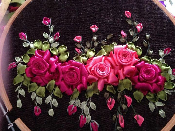 .Silk Ribbon Embroidery