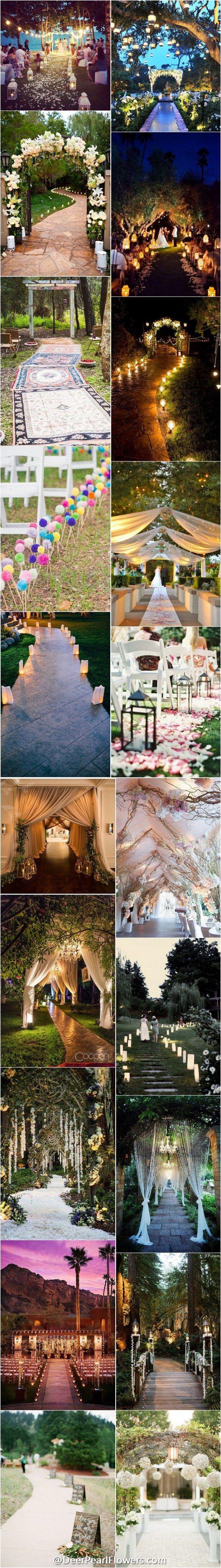 Unique wedding ideas  - Wedding Entrance Walkway Decor Ideas / http://www.deerpearlflowers.com/wedding-entrance-walkway-decor-ideas/