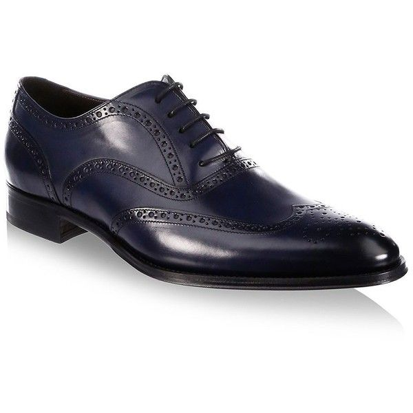 To Boot New York Milton Leather Wingtip Oxfords ($395) ❤ liked on Polyvore featuring men's fashion, men's shoes, men's oxfords, mens lace up shoes, mens oxford shoes, to boot new york mens shoes and mens leather shoes