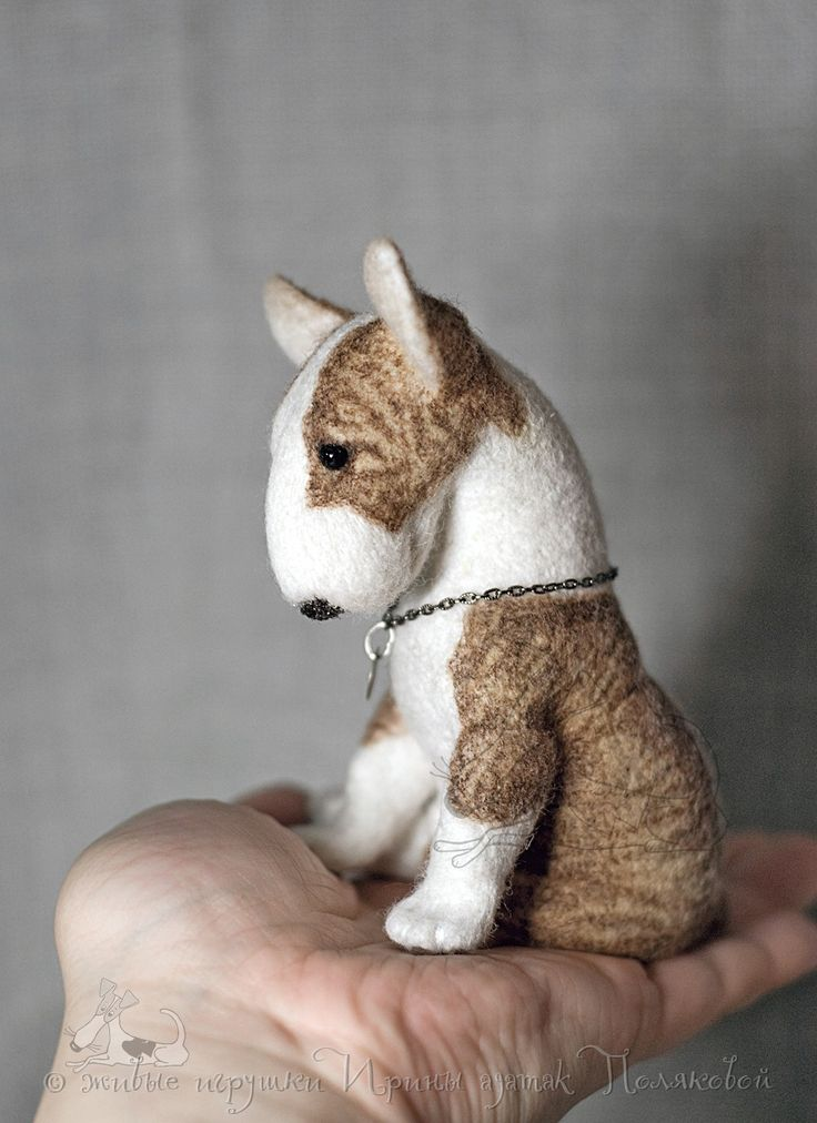 Needle felted bull terrier puppy, OOAK