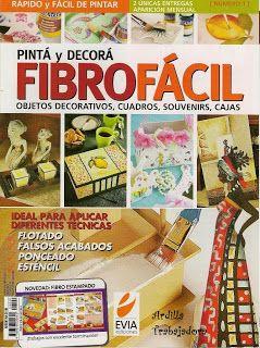 Revistas de Manualidades Para Descargar: Pinta y Decora FibroFacil Nº1