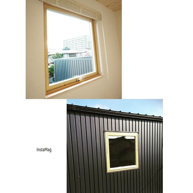 #サロン部屋 にも大きな木枠の窓を設置しました🎵 #玄関ホール にある木枠の窓の大きいバージョンです😌 この2つが外から見た時の#外観 のアクセントになるようにしています✌️ #外構 が出来上がり次第、外観全体の写真アップしますね〜🤘🏻 ・ #ガルバリウム #ガルバリウム外壁 #注文住宅 #マイホーム #マイホーム記録 #マイホーム計画 #マイホーム完成 #新築 #新築一戸建て #新築住宅 #新築戸建 #夏山邸記録 #marushoshiga #ブルックリン住宅 #ブルックリンスタイル #BrooklynStyle #ミラーレス一眼 #ソニーアルファ