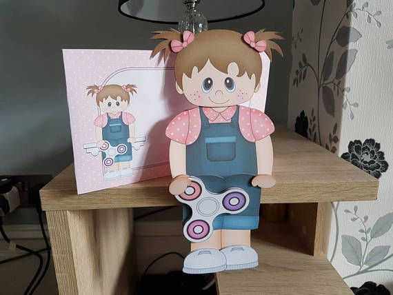 Check out this item in my Etsy shop https://www.etsy.com/uk/listing/538925499/girl-with-fidget-spinner-birthday-card