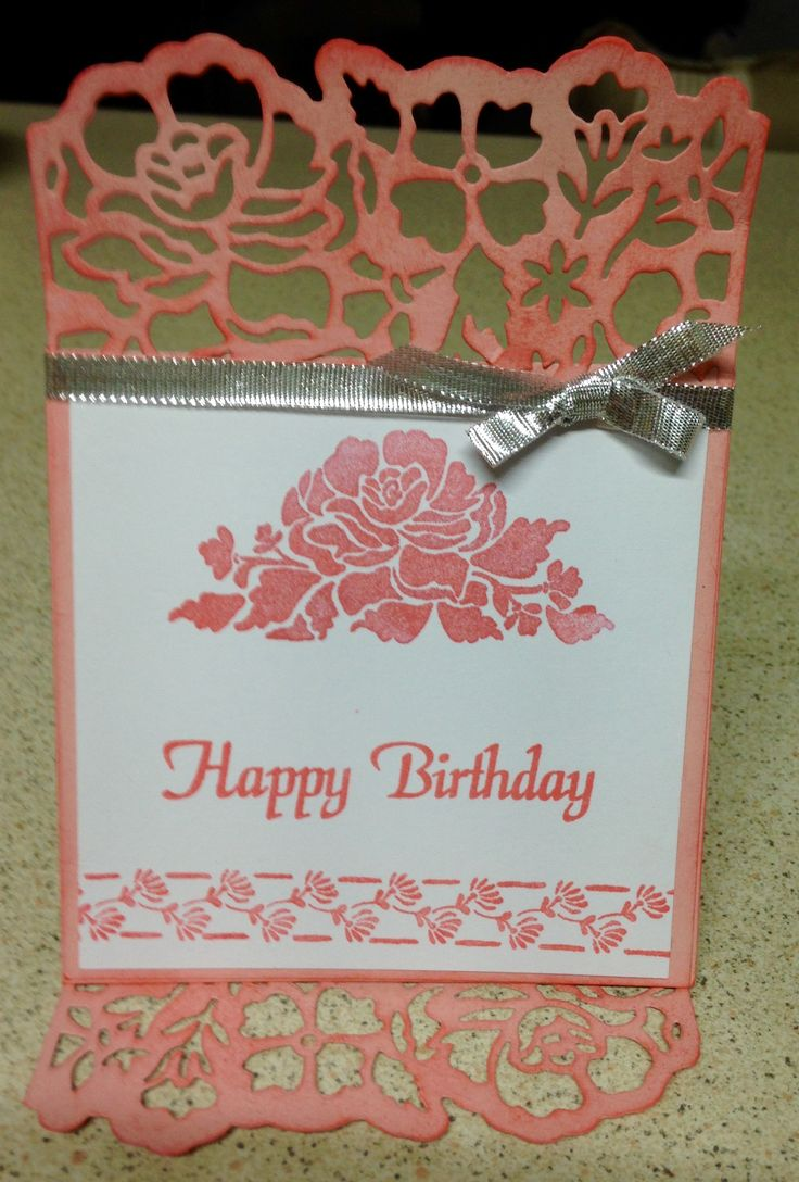 Detailed Floral Thinlits Die by StampinUp.  Followed Ann's Happy Stampers Tutorial.