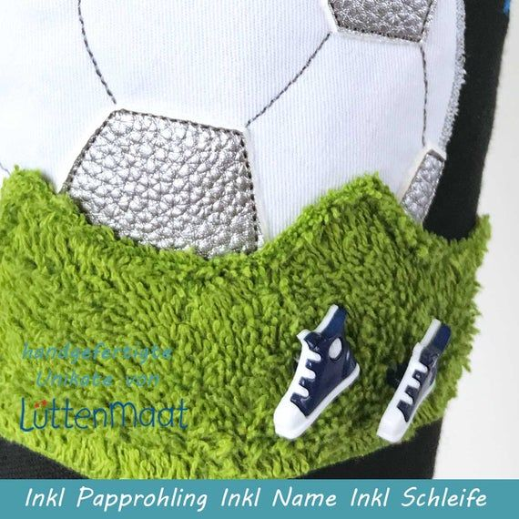 Set Fussball Applikation Fussball Knopfe Und Frottee Rasen E