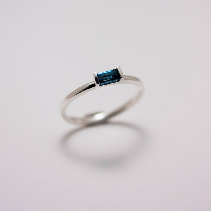 Sterling Silver London Blue Topaz Baguette Stack Ring by CathyHeinzDesigns on Etsy https://www.etsy.com/listing/272724798/sterling-silver-london-blue-topaz