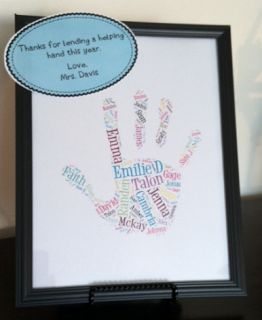 Super cute idea for a parent volunteer or room mom gift. SO cheap and easy!