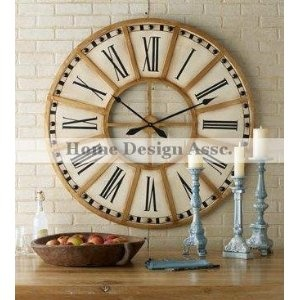 extra large 45 oversize white gold train station wall clock iron