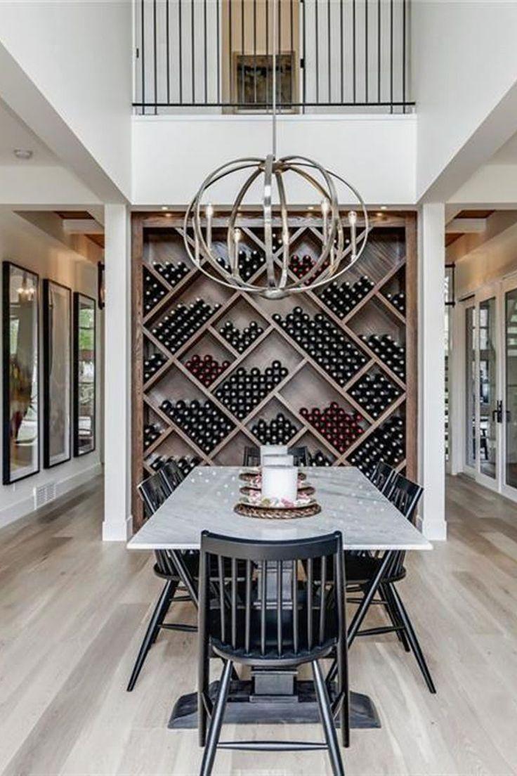 modern farmhouse wine cabinet