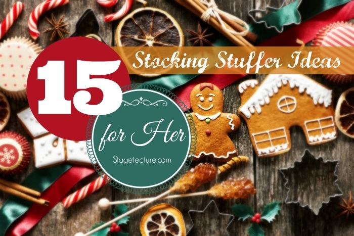 Need inspiration for gift ideas for her? These 15 ideas are perfect and will help you check off her favorites! #christmas #gifts #women http://stagetecture.com/75-christmas-stocking-stuffer-ideas/