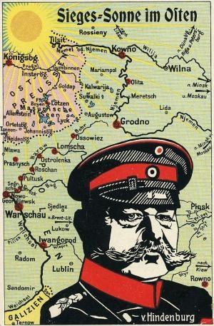 """[Postkarte: Hindenburg als """"Befreier des Ostens"""", 1914]"""