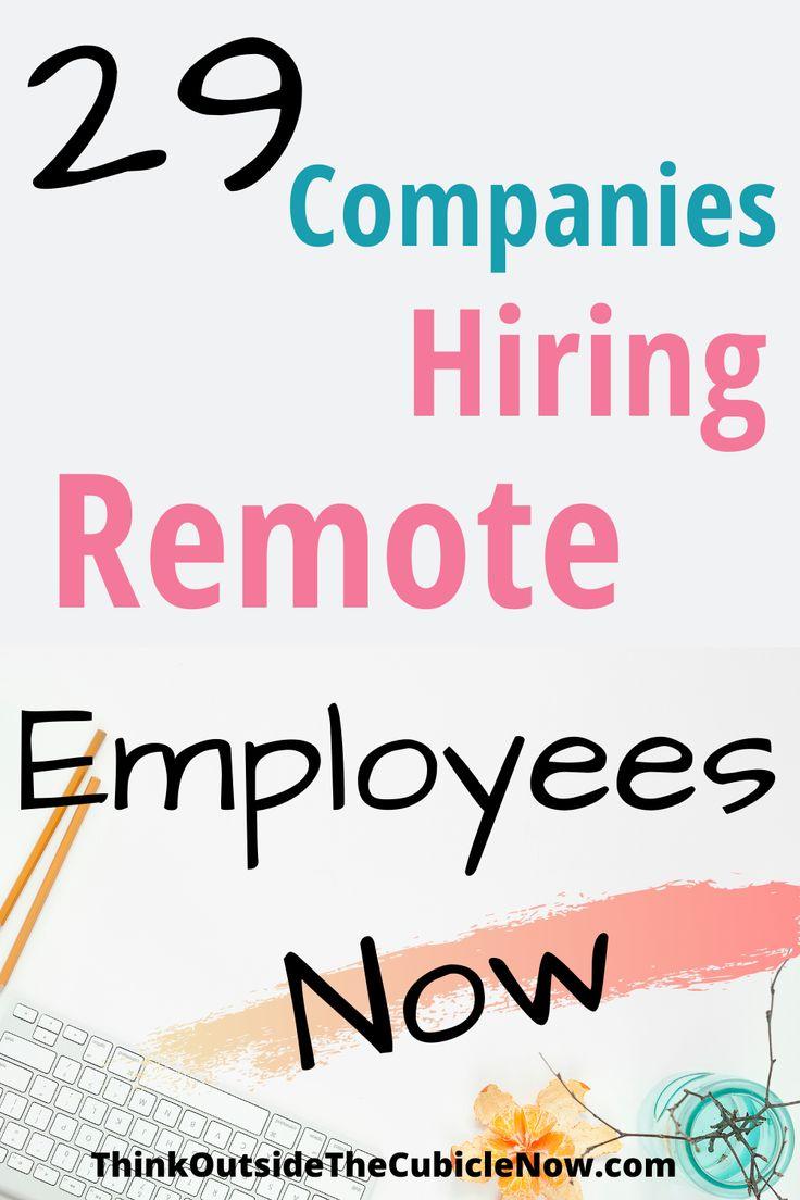 29 Companies Hiring Remote Employees Now in 2020 Nursing