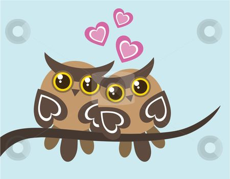 Two Owls On Branch Clip Art 69 best images a...