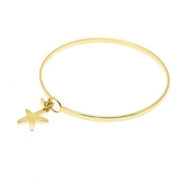 Starfish Bracelet in Gold– available in gold and silver.$24.00 Get 25% off this bracelet with coupon code 'foxypin' www.foxyoriginals.com, #bracelet, #goldbracelet, #goldjewelry, #goldbangle, #starfishcharm, #sistergift, #jewelrygift, #gift, #holidaygift, #birthdaygift, #teenagergift, #momgift, #graduationgift, #cutepackaging