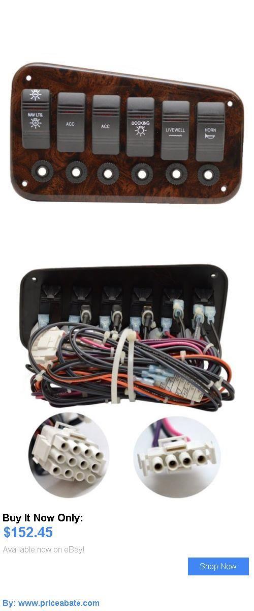 boat parts: Bennington Pontoon Woodgrain Plastic 7 1/2 X 6 1/4 Boat Breaker Switch Panel BUY IT NOW ONLY: $152.45 #priceabateboatparts OR #priceabate