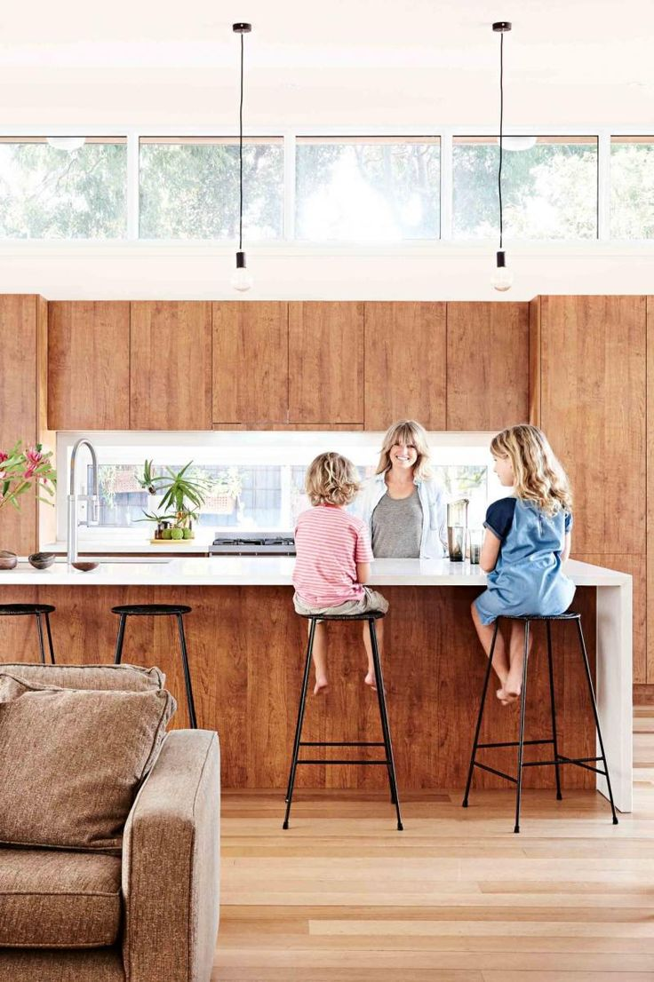 The Kerchum Residence Is A Perfect Mix Of Modern: Weatherboard House, Modern Kitchen Lighting, Mid