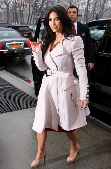 Kim Kardashian - In LOVE with this White Coat. For some reason it was breathtaking as soon as I saw it, I have no idea why, but who cares.  I love it n that's all that matters to me.