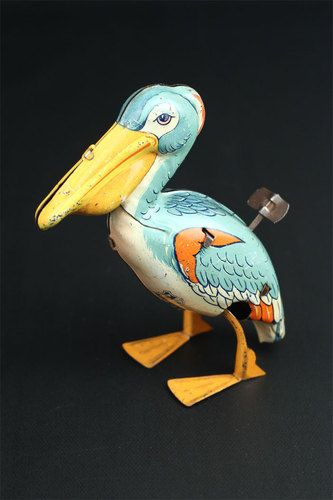 Vintage Chein Co Walking Pelican Wind-Up Tin Toy | eBay
