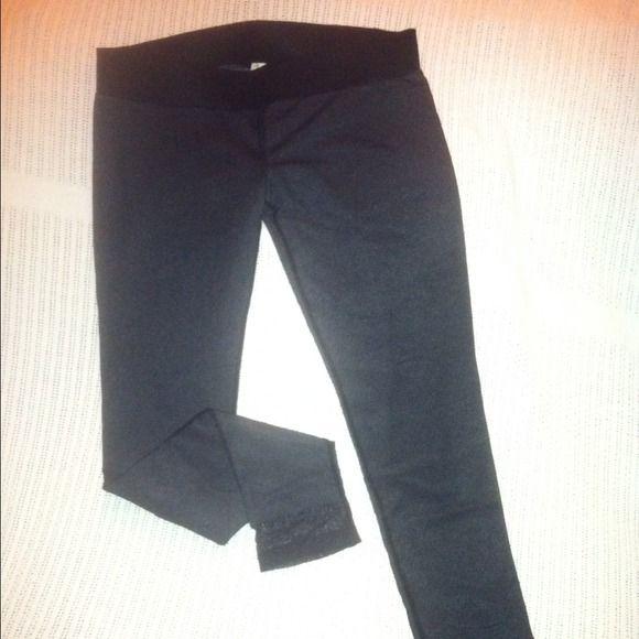 Diesel leggings Diesel black. Lined leggings. Dark grey cotton leggings with black nylon mesh overlay.  Awesome pant for any occasion!!! NWOT Diesel Pants Leggings