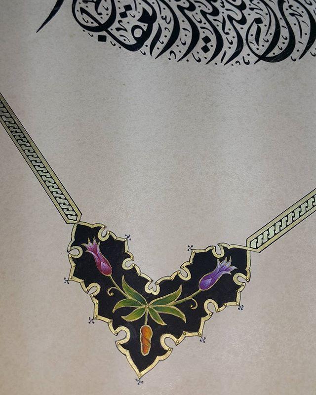 Köşe arapervaz lale taraması Tezhip#illumination#calligraphy#hat#ircica#koleksiyon#qoran#celîdîvani#sanat#art#love#desen#tasarım#design#ottoman#turkishart#tulip#lale#altın#gold