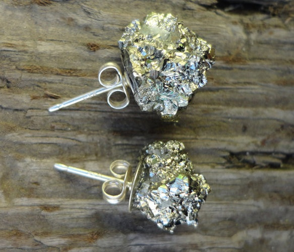Pyrite Fool's Gold Earrings Uncovet