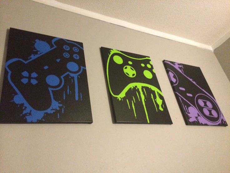 Video Game Splatter Art ---- Of course Neil would only allow various Nintendo brand controllers. ;)