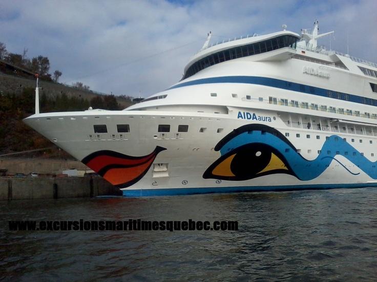 Approchez aussi près que cela des plus gros navires de croisières au monde tel que le Aida Aura.     Come this close to the biggest cruises ships in the world such as the Aida Aura.