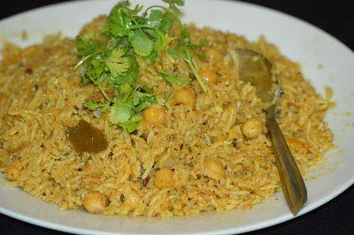 Chick Peas (Channa)Pulav | TasteURCooking