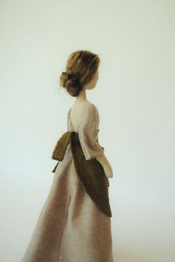 Cloth doll / woodland girl / one of a kind / handmade by willowynn